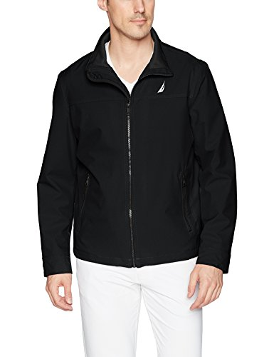 Nautica Men's Lightweight Stretch Golf Jacket, Deep Black, XL