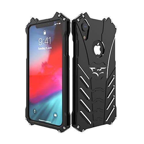 Iphone Aluminum Apple Case - Metal Back Case for iPhone XR, Bpowe Shockproof Anti-Drop Aerospace Aluminum Light Shockproof Case with bat Kickstand for Apple iPhone XR 6.1inch 2018 (iPhone XR 6.1inch)
