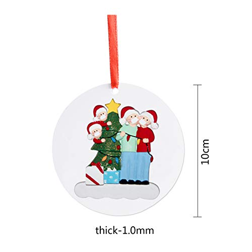 CJWPOWER 2020 Personalized Christmas Ornament, Quarantine Themes, Best Gift for Family, Neighbors, Friends, Church Members, Grandparents and More (Lights, Family of 4)