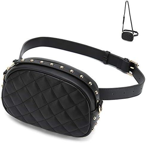 d925bff7145d Catmicoo Fanny Packs for Women Designer Waist Purses Fashion Belt Bags  (Black)