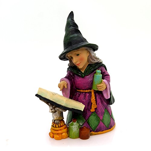 Enesco Jim Shore Heartwood Creek Mini Witch with Spell Book (Halloween Witch Spells)