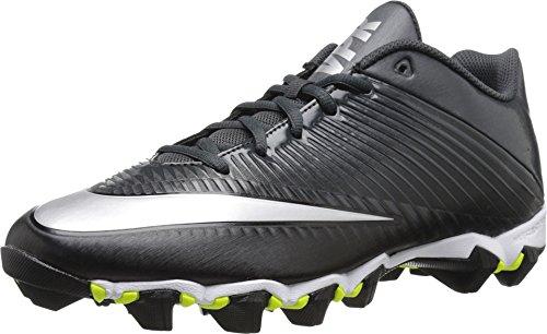 Nike Men's Vapor Shark 2 Football Cleat Black/Anthracite/Metallic Silver Size 10 M US (Nike Vapor Baseball Cleats Boys)