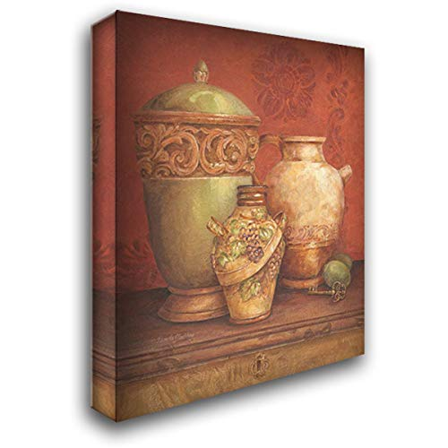 Tuscan Urns I 28x36 Gallery Wrapped Stretched Canvas Art by Gladding, Pamela