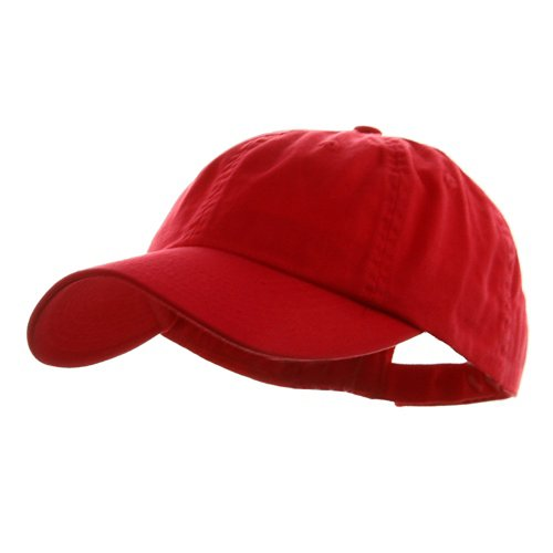 Wholesale Low Profile Dyed Soft Hand Feel Cotton Twill Caps Hats (Red) - 21204