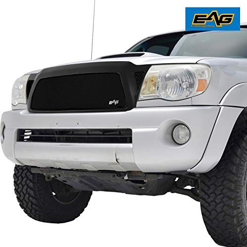 (EAG Replacement Grille Black Stainless Steel Wire Mesh with ABS Shell Fit for 05-11 Toyota)