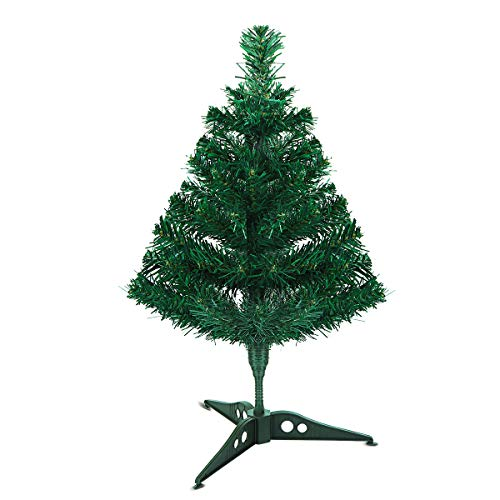 Artificial Mini Christmas Tree Xmas Tree, Indoor Xmas Decorations with Stand 17.7 -Inch