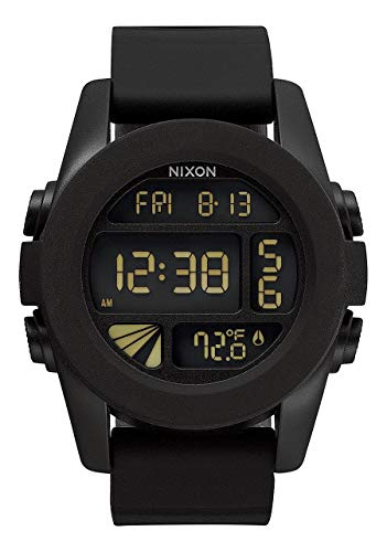 NIXON Unit A197 - Black - 100m Water Resistant Men's Digital Sport Watch (44mm Watch Face, 24mm Pu/Rubber/Silicone Band)