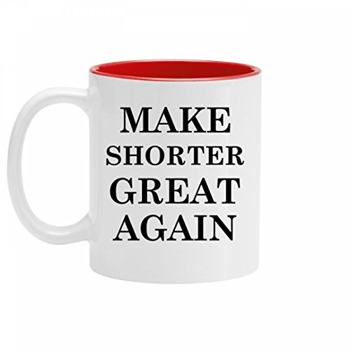Make Shorter Great Again Pride: 11oz Two Tone Ceramic Coffee Mug