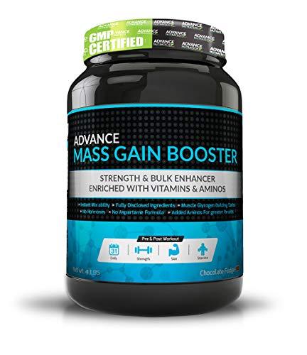 Advance Nutratech Mass Gain Booster Supplement Powder - 2Lbs (Double Rich Chocolate)