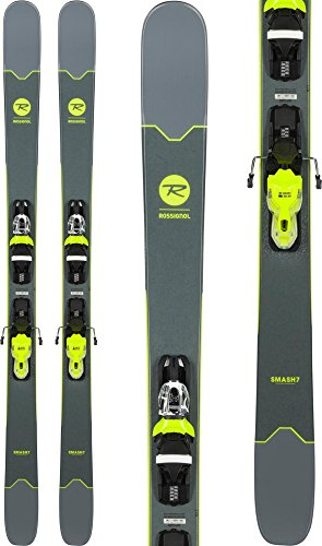 (Rossignol Smash 7 Skis w/Xpress 10 Bindings Black/Yellow Mens Sz 150cm)