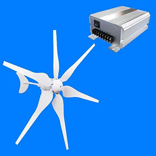 SUNSG 600 W AC 12 V generador eólico 6 cuchillas de fibra de ...
