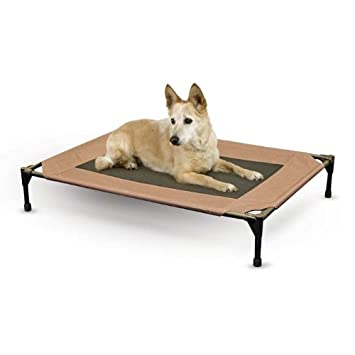 elevated wooden dog bed with stairs raised extra large cooling pet cot dogs outdoor