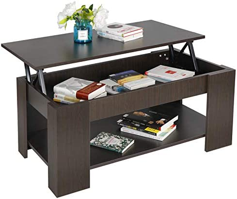 picture of ZENY Lift Top Coffee Table - Hidden Compartment and Storage