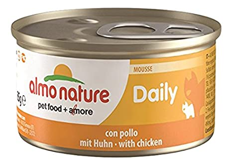 Almo Nature Tradition Comida Húmeda para Gatos Adultos almo Nature Daily Mousse Pollo 85 gr: Amazon.es: Productos para mascotas