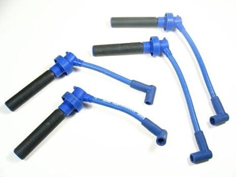 Amazon.com: OBX Performance Blue Spark Plug Wire Set ... on neon spark plug tubes, neon indicator lights, neon spark plug signs, neon shifter bushings, neon spark plug lights, light-up motorcycle plug wires, neon headlights, neon spark coil,