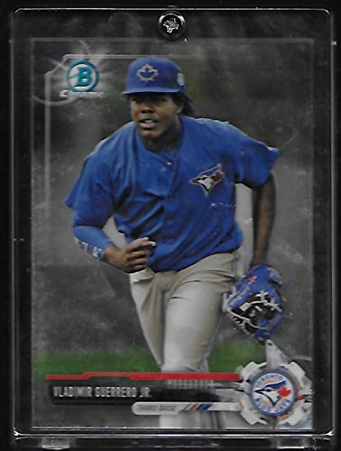 - Vladimir Guerrero Jr. 2017 Bowman Chrome Prospects Baseball Rookie Card #BCP32 - Toronto Blue Jays - Stored in a Protective Plastic Display Case!!
