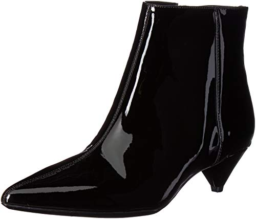Calvin Klein Women's Larissa Ankle Boot, Black Patent, 9.5 Medium US -