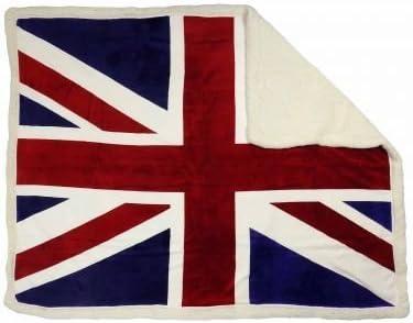 Manta de forro polar con diseño de bandera de Reino Unido: Amazon.es: Deportes y aire libre