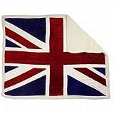 union jack fleece - Giant Union Jack Fleece Sherpa Blanket