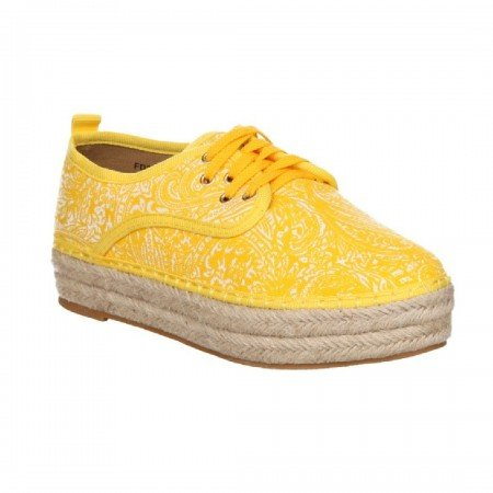 5dbab8cb Schuhtempel24 - Zapatillas de tela para mujer amarillo amarillo ...
