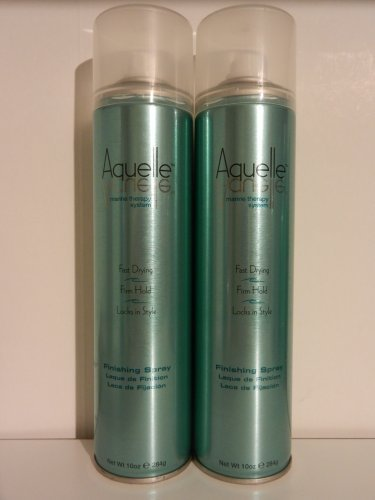 (2) Aquelle Marine Therapy System Fast Drying & Firm Hold Hairspray Finishing Spray 10 Oz / 20 Ounces Total!