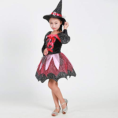 KNDDY Halloween Outfit Costumes Cosplay Halloween Clothing Clothes Kids Girls Fancy Short Sleeve Skirt Set Black