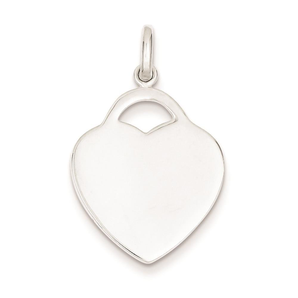925 Sterling Silver Heart Polished Charm Pendant