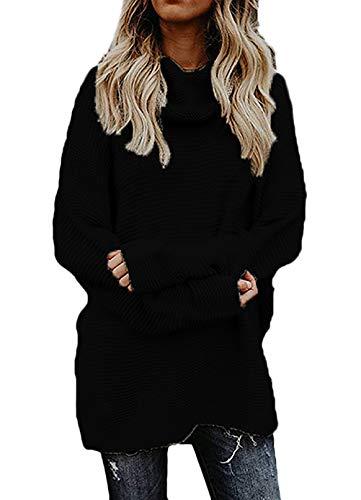 Cuello Espesor Larga Jersey Negro Manga Suéter Termica Invierno Moda Collar  Otoño Jerseys Unicolor Alto Chicos High Pullover Mujer ... ba41764439f9