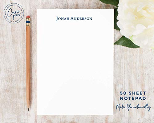 Stationary Stationery Notepad Personalized Notepad FANCY MONOGRAM pretty simple cute note Custom Notepad  Personalized for Women