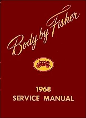 OLDSMOBILE BUICK /& CADILLAC GM Fisher Body Manual 1968 PONTIAC