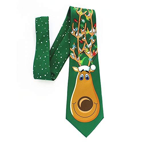 Christmas Crazy Necktie,Santa Mulit-Style Print Floral Tie For Xmas Festival MEEYA