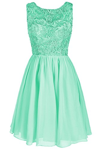 Dresstore Women's Lace Bridesmaid Formal Short Homecoming Dress Mint US 16