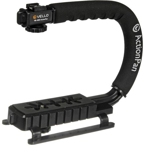 Vello ActionPan Professional Grade Camera and Camcorder Stabilizing Action Grip Handle (Scorpion Grip Filming)