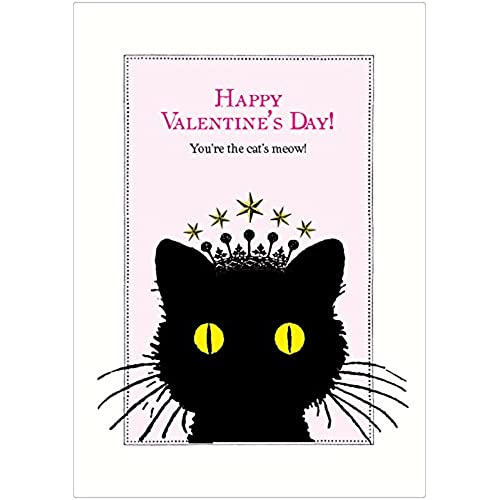 Lucca Paperworks Cat's Meow Valentine's Day Card, 5x7, Set of 6 Sales
