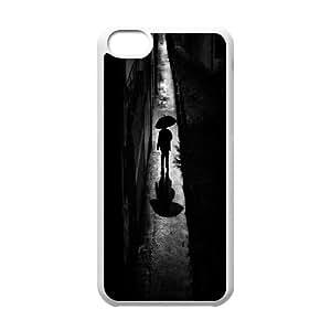 Iphone 5C Case, a rainy night walk Case for Iphone 5C White