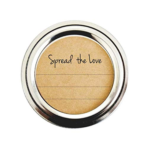 Spread the Love Mason Jar Labels, Stickers for Jam, Jelly, Marmalade & Preserves by Once Upon Supplies, 2