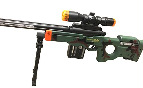 AW50 Sniper Military Combat Toy Machine Gun with Colorful LED Light and Sound Effect by Quest Toys (Image #1)