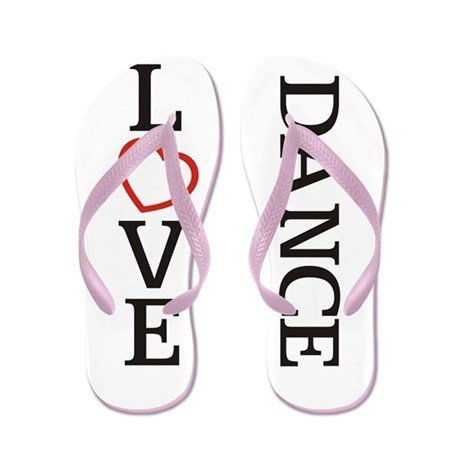 Lplpol Big Love Dance Flip Flops for Kids Adult Beach Sandals Pool Shoes Party Slippers Black Pink Blue Belt for Chosen