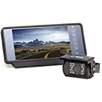 Backup Camera System with 7 Replacement Mirror Monitor by Rear View Safety