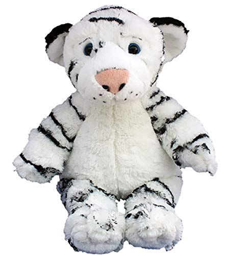 Stuffems Toy Shop Record Your Own Plush 16 inch White Tiger - Ready To Love In A Few Easy Steps