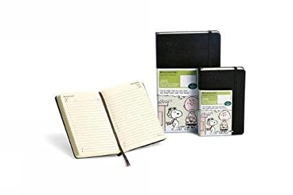 Moleskine 2013 Peanuts Limited Edition Daily Planner, 12 Month, Pocket, Black, Hard Cover (3.5 x 5.5)