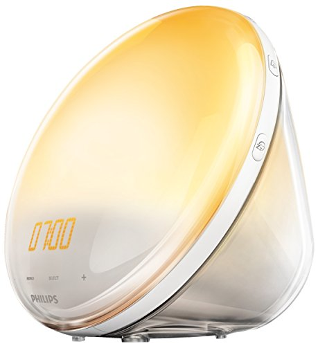 Philips HF3531/01 Wake-Up Light (Touchfunktion, 7 Wecktöne, FM Radio)