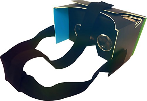 "Nfōld Google Cardboard V2 Virtual Reality Headset Kit + Head Strap - Version 2.0 VR 3D Glasses - Fits Smartphones up to 6"" Screen Size - Compatible with iPhone and Android Devices"
