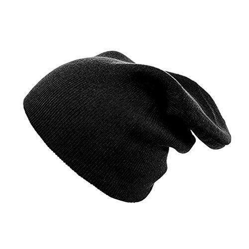 Negro talla única Liso Gorro hombre Negro punto de 4sold para Hw8Xpq