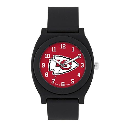 NFL Kansas City Chiefs Mens Fan Series Wrist Watch, Black, One Size - Kansas Wrist Watch