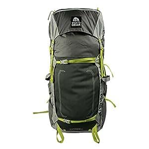 Granite Gear Lutsen 55 Backpack, Small/Medium, Flint/Chromium/Neolime