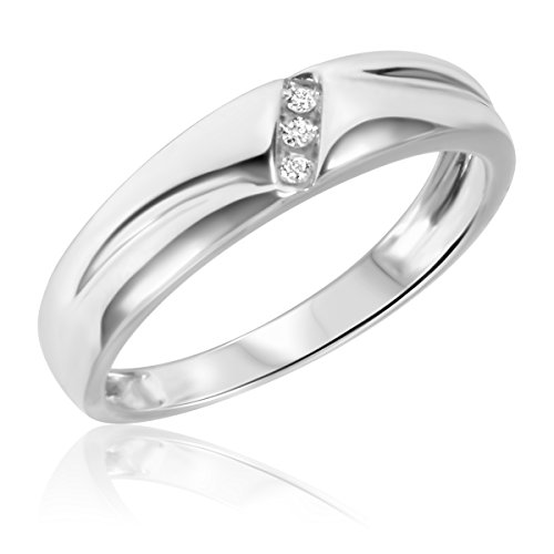 1/25 Carat T.W. Diamond Ladies' Wedding Band 14K White Gold- Size