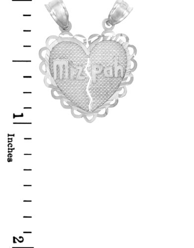 10 ct 471/1000 Charme Juive - Or Blanc Mizpa Juive Pendentif