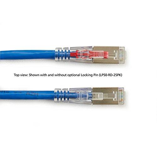 6.0-m Black Box GigaBase 3 CAT5e 100-MHz Shielded Yellow Lockable PVC Cable Stranded 20-ft. F//UTP