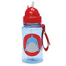 Skip Hop Zoo Straw Bottle, 12 oz, Snazzy Shark